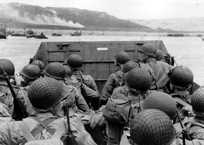Approaching Omaha Beach Normandy